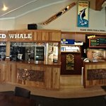The Beached Whale's bar and serving area.