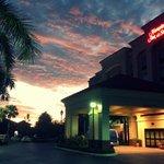 Beautiful Florida sunrise over the Hampton Inn