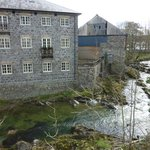 Flannel mill by river Severn