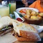 Delicious porkloin sandwich w/chutney