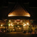 Thai style reception and restaurant (romantic view)