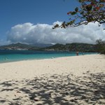 Grand Anse beach in front of Umbrella's