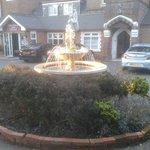 Fountain on entrance