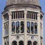 Belfry of Iglesia de Santo Domingo from balcony of Room 200