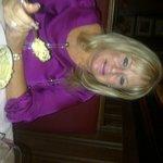 My wife enjoying her souffle