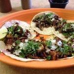 Tacos Carne Asada and Pastor