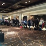 Outrageously long check-in line...