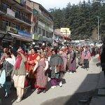 Povo da montanha em Shimla
