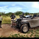 "Enjoying morning break during our game drives with our "" super talented ranger "" - Michael"