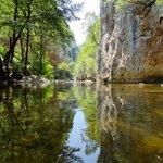 De rivier de Jerma nabij Poganovo