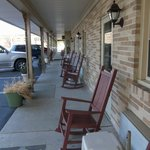 rocking chairs outside your door