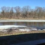 early spring as the Milwaukee River opens up -view from Anchorage Restaurant