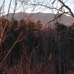 View of Mount LeConte from the upstairs balcony at Eagles Nest