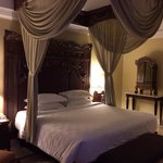Comfortable bed at the club suite