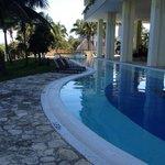 Side of pool.