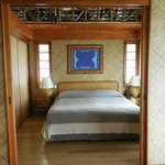 Bedroom with telephone