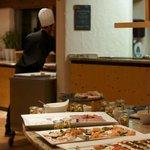 The appetizer buffet.