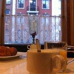 La vista durante la gustosa colazione.
