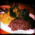 Pork Shank with Red Cabbage & Kraut
