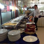 Buffet at hotel