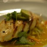 Wahoo fish on cabbage, citrus jus - amazing