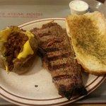 Famous steak dinner
