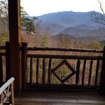 Mt LeConte view from the Wonderland suite