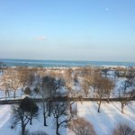 View of Lake Michigan from a junior suite on the 11th floor