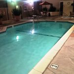 Outdoor (heated) pool in the evening