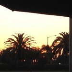 Patio view at sunset.