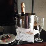 Champagne and chocolates for our honeymoon!