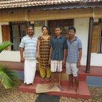George, Bindu, and sons
