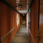 Corridor to the rooms.