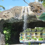 Waterfall in the pool/grotto area
