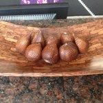 snake fruit. free at reception desk