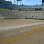 Lambeau Field from the sidelines