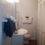 Downstairs Bathroom with shower and washer/dryer