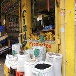 Vendors on the street behind El Mercado Modelo