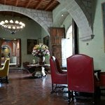 Monasterio's lounge/bar. Perfect place for a cup of coca tea