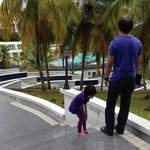 The outdoor pool at Klana Beach Resort Seremban