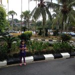 The front parking at Klana Beach Resort Seremban