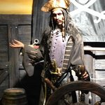 Wax statue of 'Captain Jack Sparrow' out of Pirates of the Caribbean - as seen in the wax museum