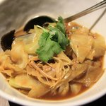 chap chye - braised cabbage with mushrooms, sweet/dried bean curd, pork belly, black fungus