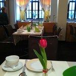 Sala della colazione, curata anche nei dettagli