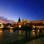 Zachód słońca Rynek Krakowski