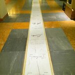 The marble strip of guest signatures in the Lobby