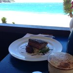 The view and the tuna steak
