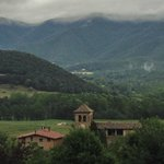 Vista de la iglesia de Sta Margarida desde Mas Guitart