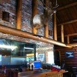 Main dining room.  Nice elk!