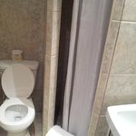 Tight squeeze of a bathroom!